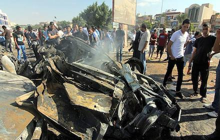 Benghazi car bombing scene, 21 Nov 2016
