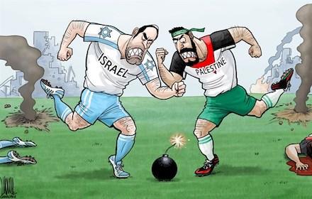 Israeli-Palestinian football war