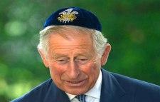 Prince Charles wearing a Jewish kippah