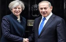 Theresa May and Binyamin Netanyahu