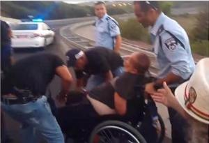 Israeli police assault disabled protesters