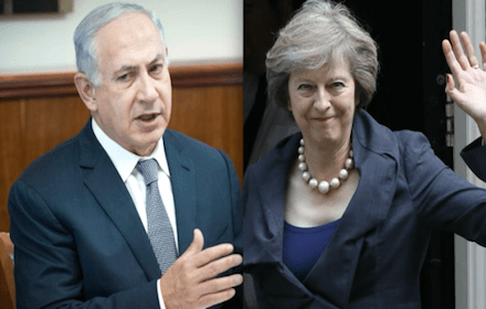 Binyamin Netanyahu and Theresa May