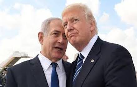 Tramp and Netanyahu close-up