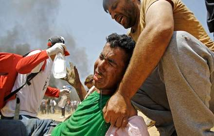 Israel shoots Gaza peaceful protesters