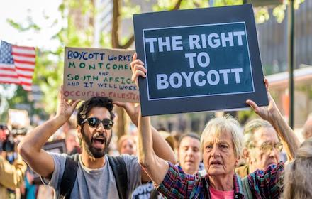 Right to boycott Israel
