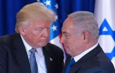 Trump and Netanyahu up, close and personal