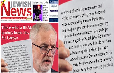 Corbyn and Jew aplogies