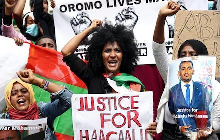 Ethiopian Hachalu Hundesa murder protests