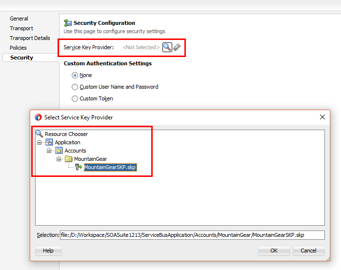 Add client certificate for outgoing OSB call