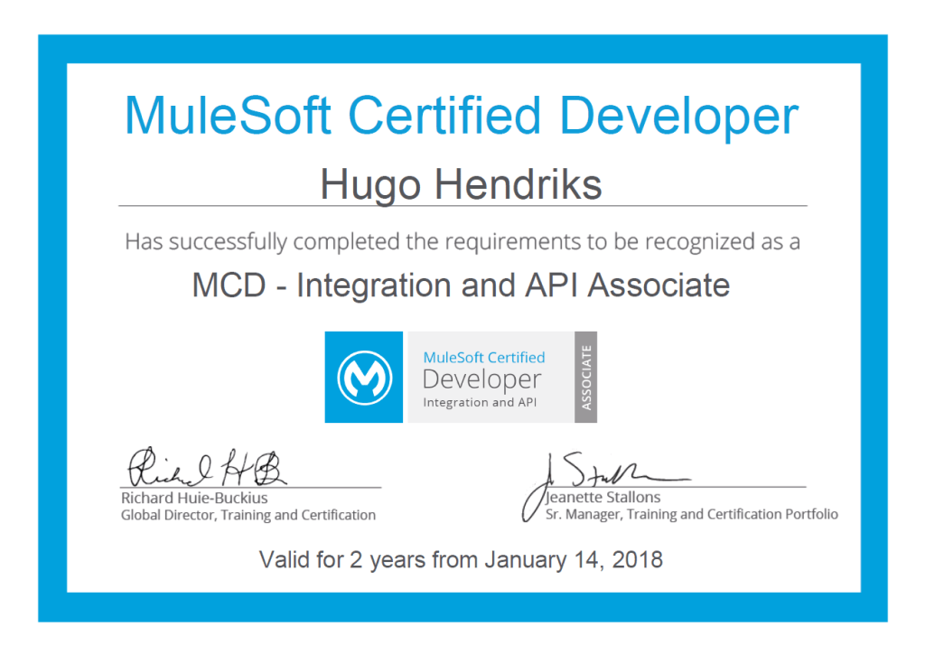 Mulesoft Certfied Developer