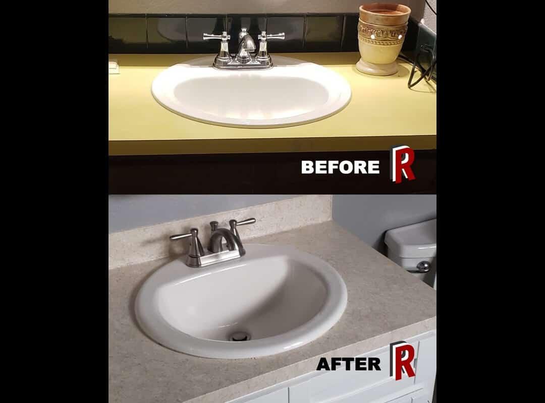 bathroom sink redrock resurfacing