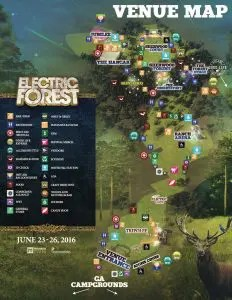 Electric Forest Venue Map