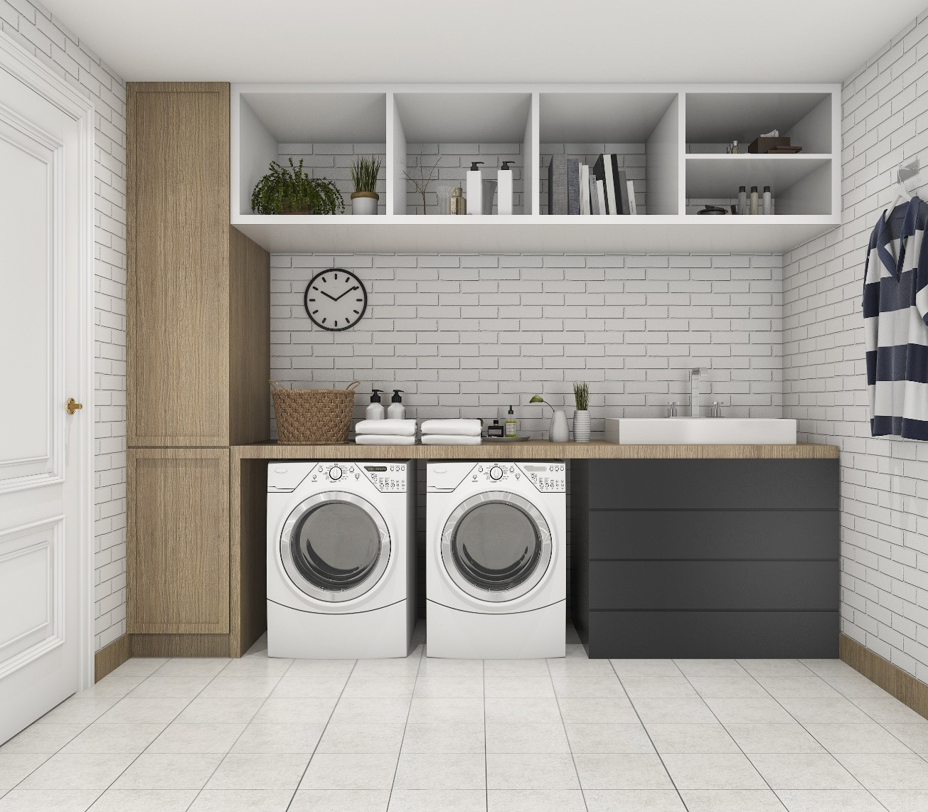 Laundry Storage Ideas | Lancaster | Red Rose Cabinets on Laundry Room Organization Ideas  id=61818