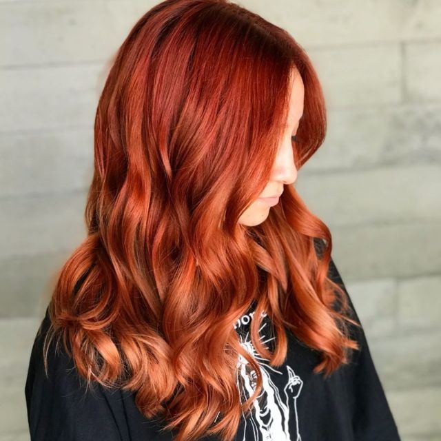 Warm copper red hair