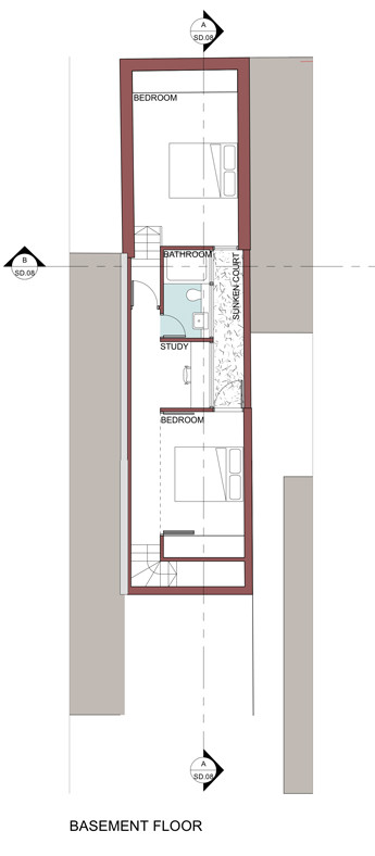 Lower Floor: Sketch plans of proposed alteration and additions.