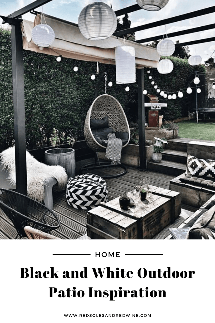 shop black and white outdoor patio