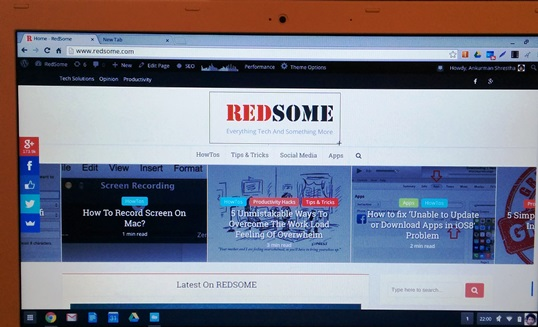 Taking a partial screenshot on chromebook