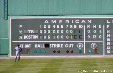Image result for green monster scoreboard