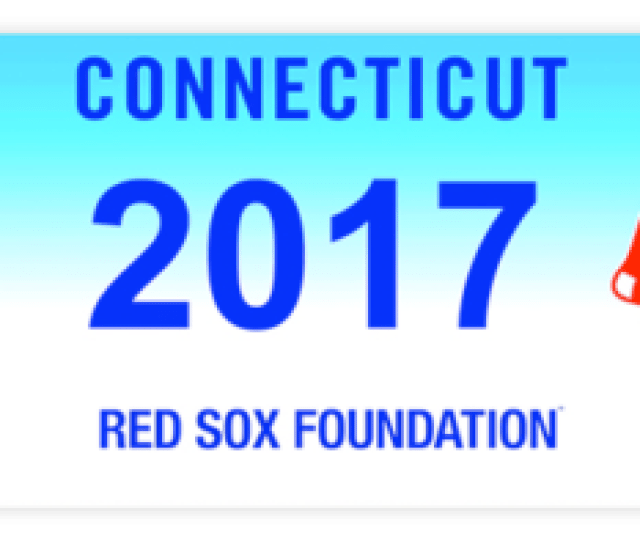 More Information About Requirements And Application Process For The Connecticut Red Sox Charity License Plate Is Available From The Red Sox