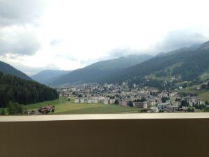 Blick aus dem Interconti auf Davos