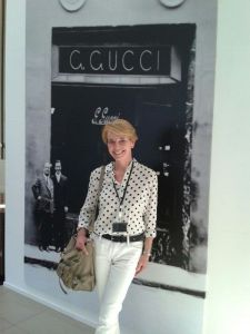 Susanne Stoll in der Manufaktur Casellina