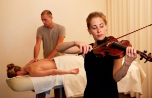 Violin Touch: Massage mit Livemusik im Dolder Grand Zürich