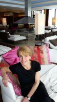 Reporterin Susanne Stoll entspannt - aber nur kurz. denn es gibt viel zu sehen