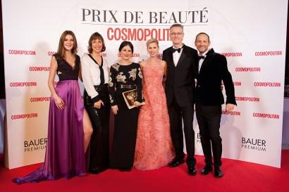 Stefanie Giesinger (Germany's Next Topmodel by Heidi Klum), Monika Fendt (Bauer Premium), Anja Delastik (COSMOPOLITAN). Foto: Christian Rudnik