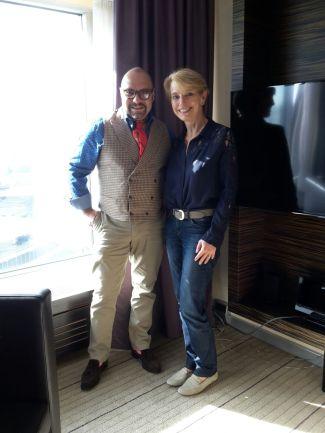 Susanne Stoll mit Parfümeur Rodrigo Flores-Roux