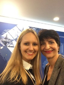 Gerade eben hat Franka Hänig noch ein Interview mit Carina Preuß, Junior General Manager vom Ayurveda Parkschlösschen, zum Thema Ayurveda geführt, jetzt gibt es ein Wiedersehen beim GWS.