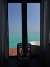 Blick aus der Spa Villa