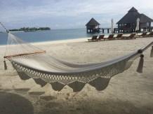 Einfach mal abhängen in den Hängematten am Strand