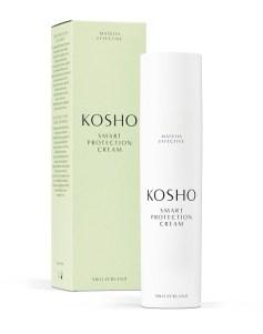 Schön sein mit der Hautpflegeserie Kosho mit Matcha-Grüntee. Für die Beauty-Produkte wird feinstes Matcha-Pulver in einem eigens dafür in der Schweiz entwickelten Verfahren zu Bio-Matcha-Extrakt veredelt. Smart Protection Cream 116 €/50 ml. www.kosho.com