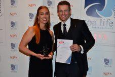 Lucia Schulz und Fabian Nusser von der Villa Stéphanie, Brenners Park-Hotel & Spa, Gewinner in der Kategorie SPA Star plus
