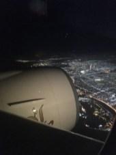 Ankunft in der Nacht-das ist schon ein Erlebnis über das Lichtermeer zu fliegen
