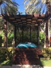 Einer der zwei Garten Pavillons des Spa.