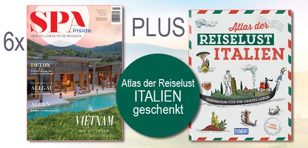"""SPA inside lesen und Buch """"Atlas der Reiselust Italien"""" geschenkt"""
