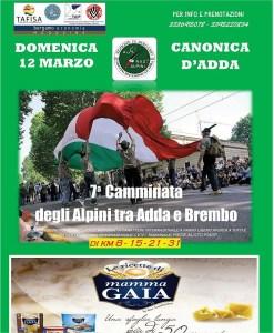 7° Camminata degli Alpini Tra Adda e Brembo @ Canonica d'Adda | Lombardia | Italia