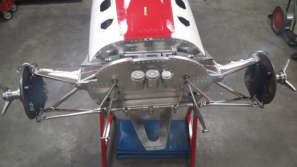 1968 red and white gurney eagle