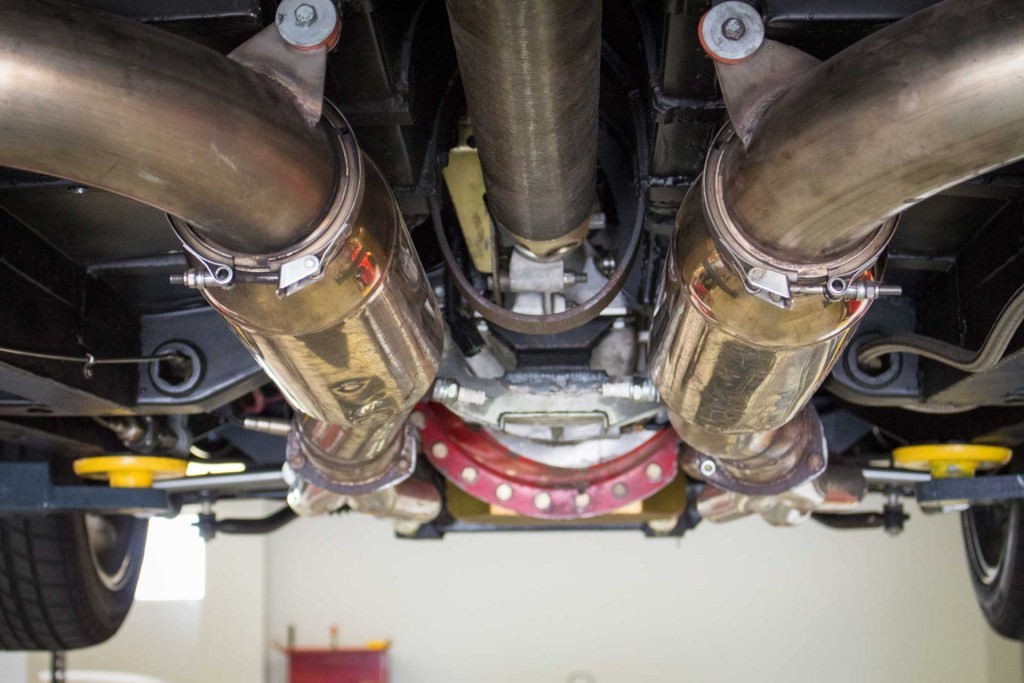 custom exhaust on classic dodge challenger