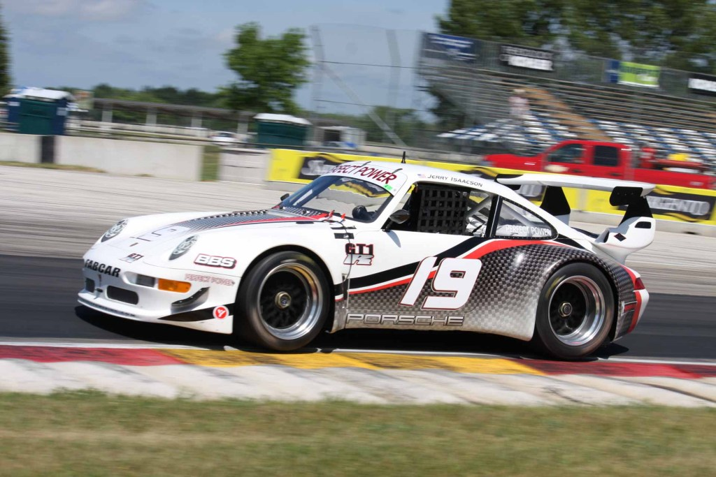porsche 930 with 993 body at race track