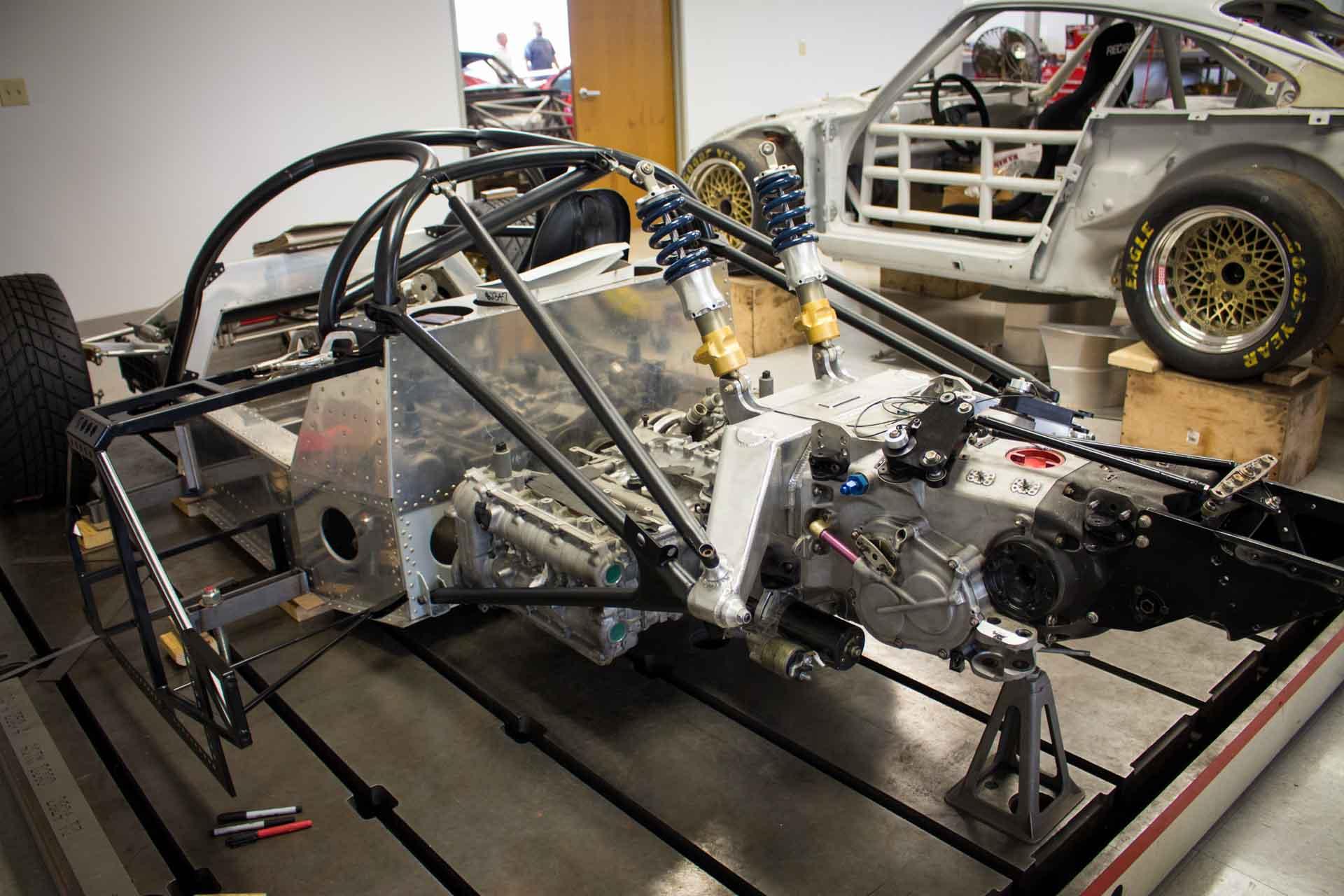 porsche 962 race car frame