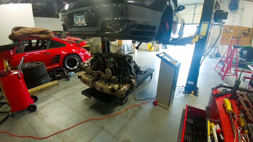redstone pe taking engine out of porsche 997