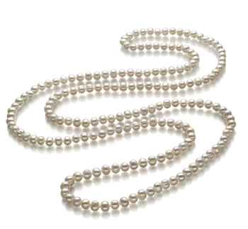 freshwater opera pearl necklace