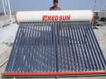 Solar water heater with capacity 300 ltr per day.