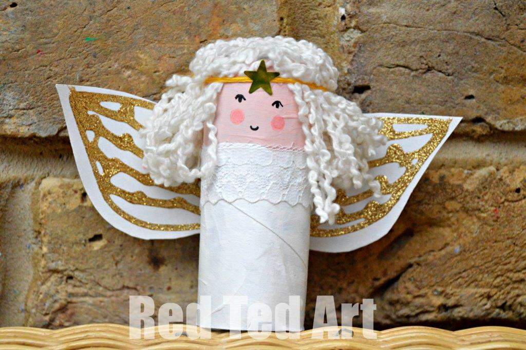 Toilet Paper Roll Angel Craft For Kids Red Ted Arts Blog
