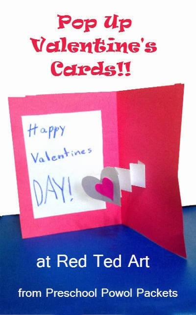 Valentines Cards Pop Up Card Red Ted Arts Blog
