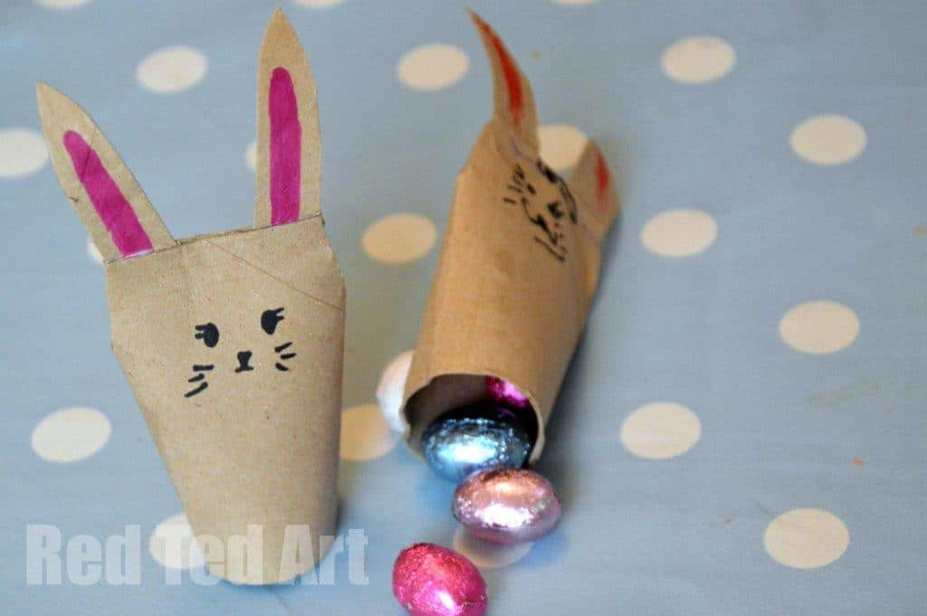 Quick Toilet Paper Roll Bunnies East Crafts For Kids