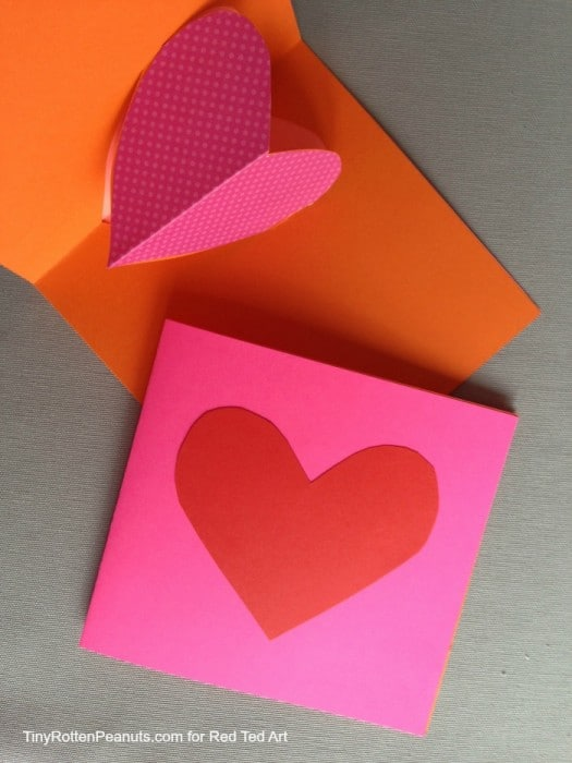 Valentines Cards Pop Up Hearts 4 Red Ted Arts Blog
