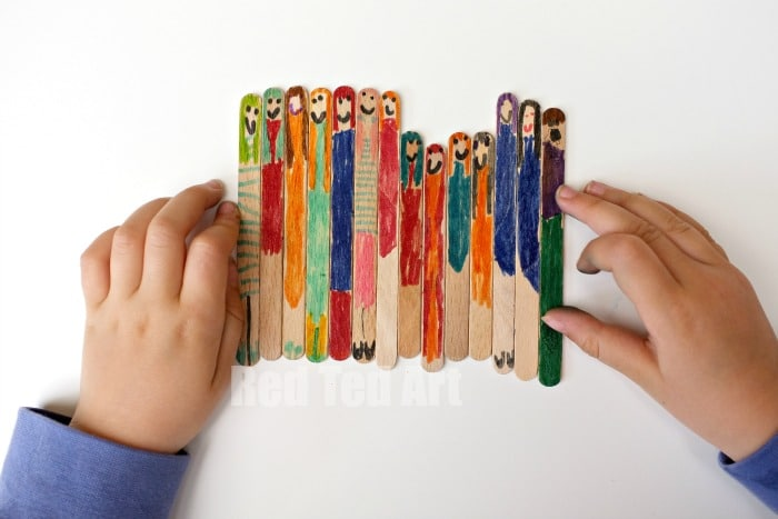 Easy Craft Stick Dollies (or Lollipop Dolls) - Red Ted Art ...